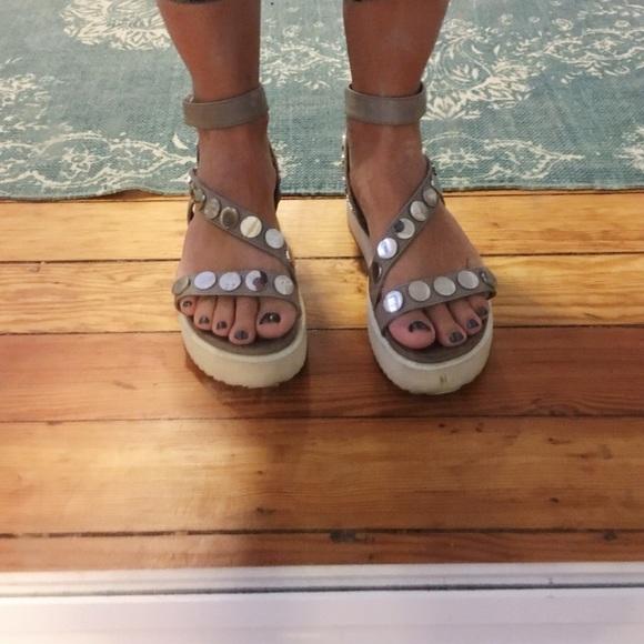 half off da64a 79936 Free People Inuovo Platform Leather Sandals